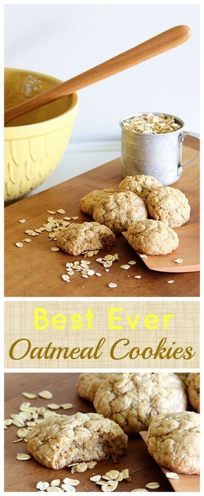 Best Soft And Chewy Oatmeal Cookies   Recipe   Oatmeal cookies recipe, Holiday cookies and Easy ...