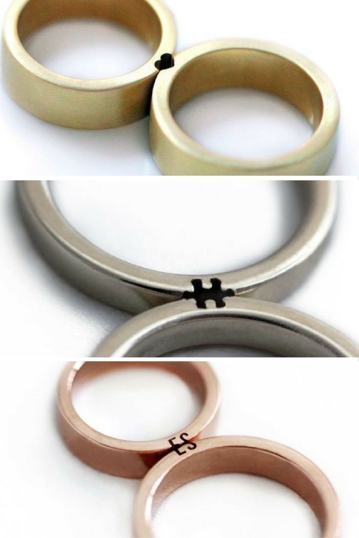 unique rings unique wedding ring sets These wedding rings only make sense when you fit them together