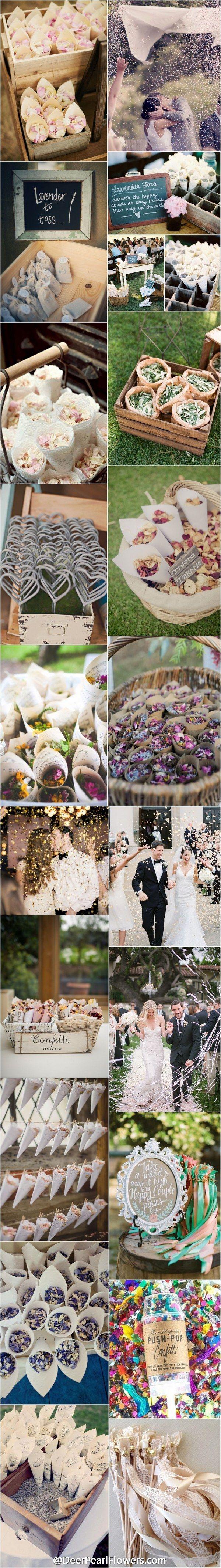 confetti exit ideas wedding send off ideas 25 Fun Creative Wedding Exit Send Off Ideas