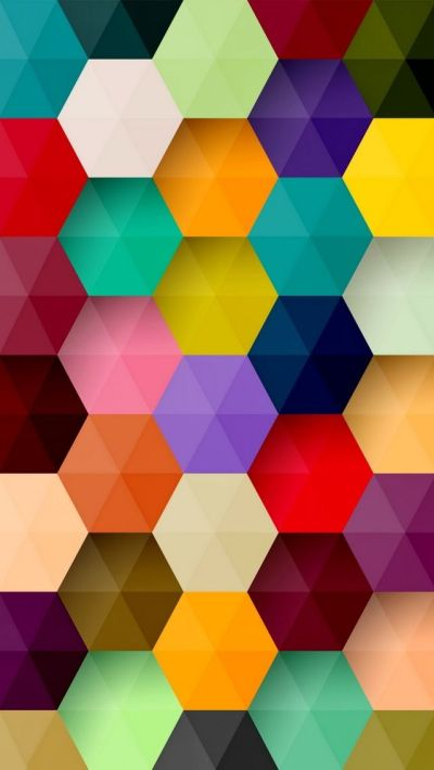 Colorful Hexagons iPhone Wallpaper | My iPhone | Pinterest | Computers, Hexagons and Hexagon pattern