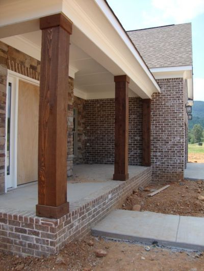 cedar columns - will only cost around $150 to make 3 to update my 1970s porch | Houses ...
