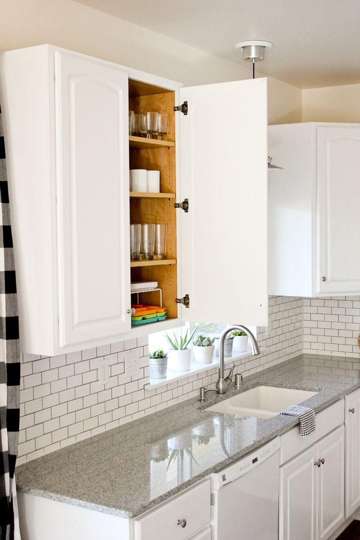 white chalk paint white painted kitchen cabinets Kitchen Renovation Series Painting Our Kitchen Cabinets White with Chalk Paint