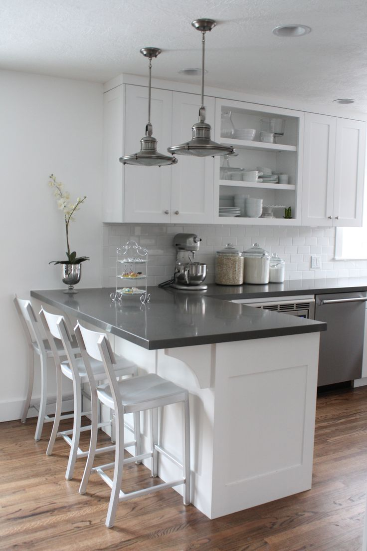 quartz countertops quartz kitchen countertops White cabinets subway tile quartz countertops