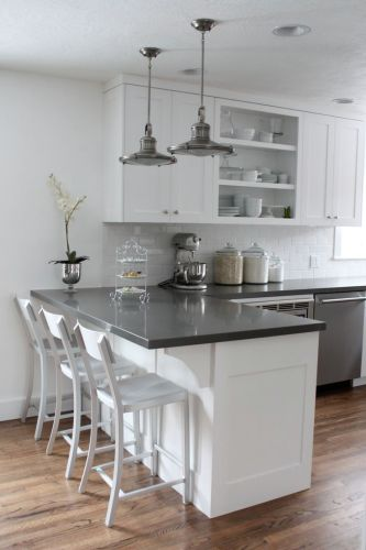 quartz countertops kitchen countertop options White cabinets subway tile quartz countertops