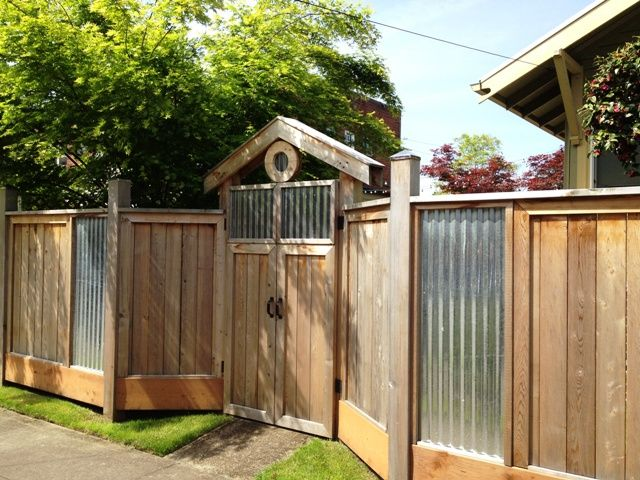 Sheet Metal Fence Designs With Tin Roofing In Decor