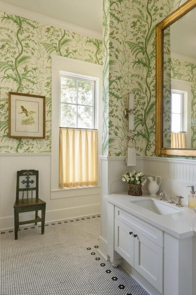 17 Best ideas about Bathroom Wallpaper on Pinterest | Bath powder, Powder room wallpaper and ...