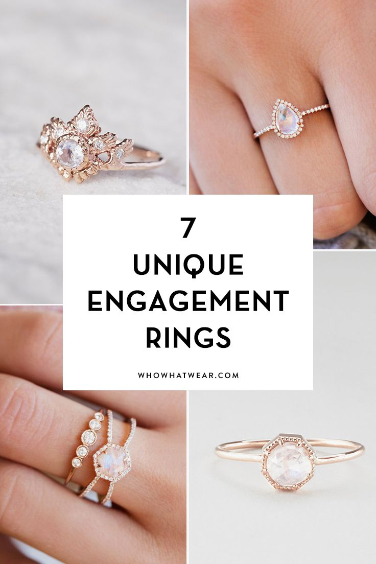cool engagement rings moonstone wedding rings 7 Breathtaking Moonstone Engagement Rings