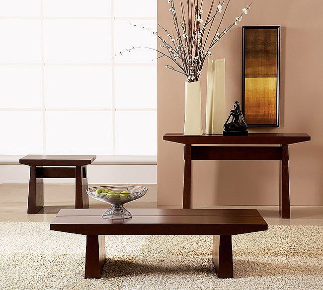 eastern influence with western style comfort asian coffee table and end dining room furniture