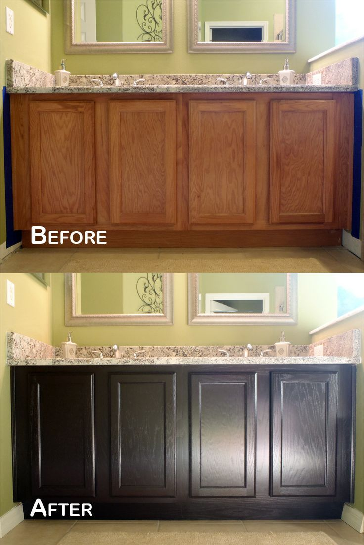 stained cabinets staining kitchen cabinets Java Gel Stain Amazing Transformation
