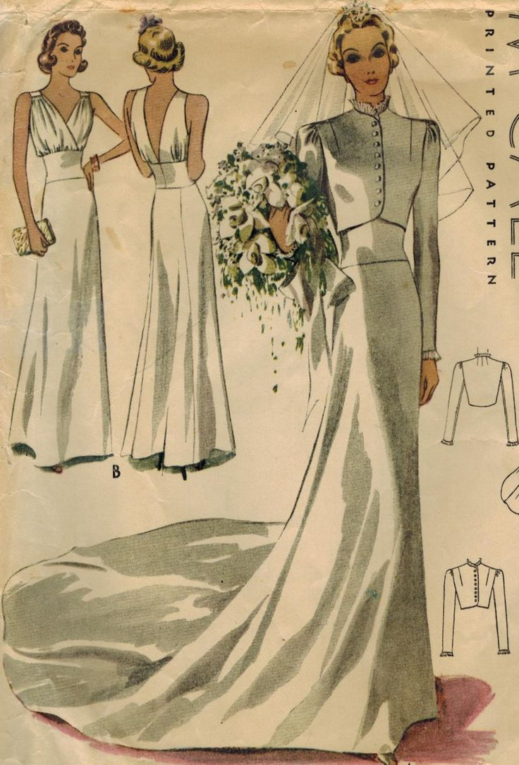 wedding dress sewing patterns vintage wedding dress patterns RESERVED s McCall Vintage Sewing Pattern Misses Bridal or Evening Gown and Jacket Size 16 Bust 34