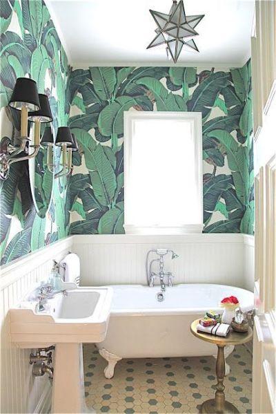 25+ best Bathroom Wallpaper ideas on Pinterest   Half bathroom wallpaper, Powder room and Powder ...