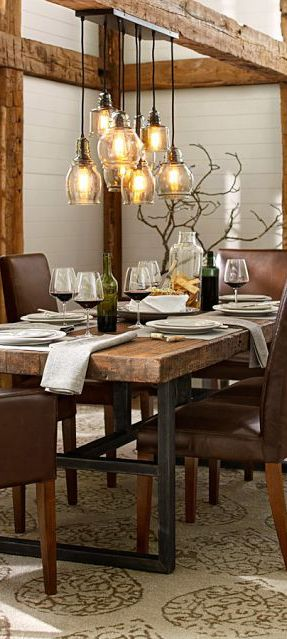 rusticindustrial lighting fixture kitchen table ideas r