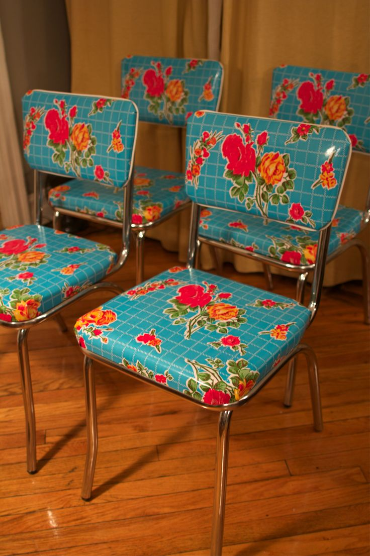 kitchen chairs teal kitchen chairs oilcloth covered kitchen chairs may have to redo my set again