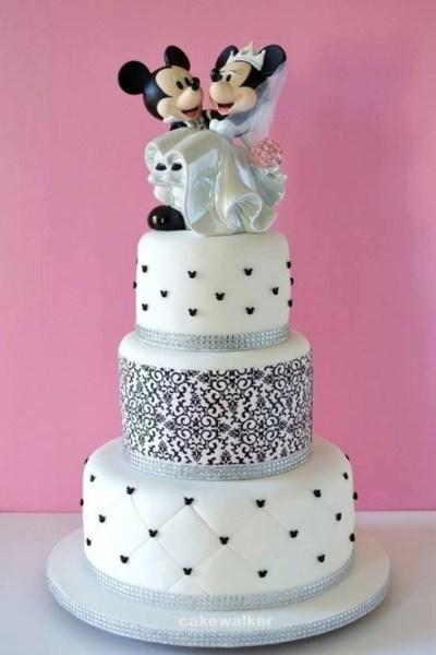 Pastel de boda | Festa temática | mickey e minnie ...