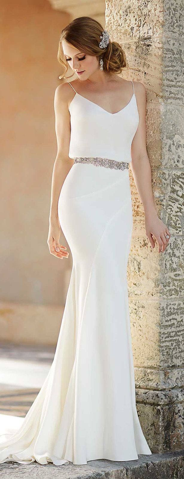 spring weddings white wedding dresses Excellent dress for a beach wedding or clean old Hollywood wedding