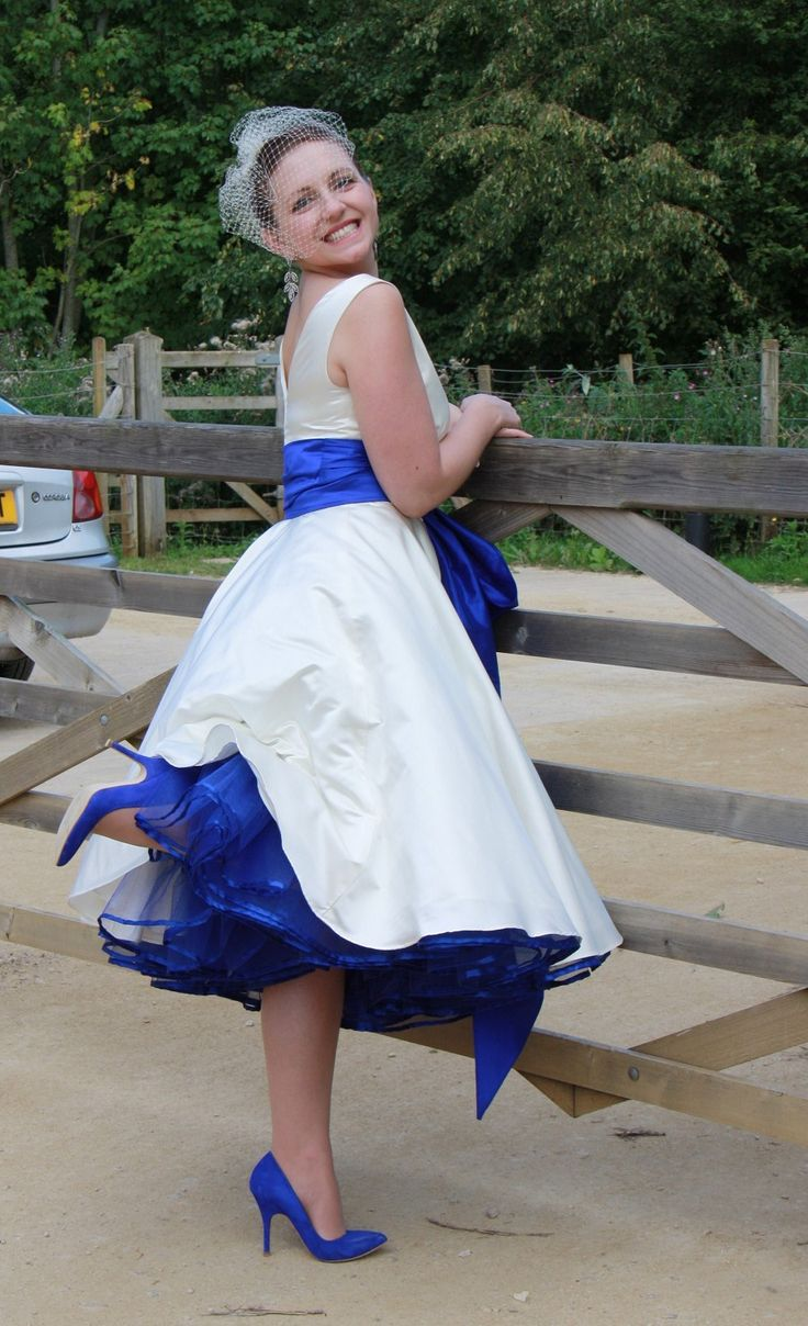 wedding dress ideas wedding dresses with blue Blue Crinoline under a wedding dress Our colors are sapphire blue to match my