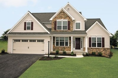 New construction single family home in the Fallen Oak Estates neighborhood in Myerstown, PA by ...