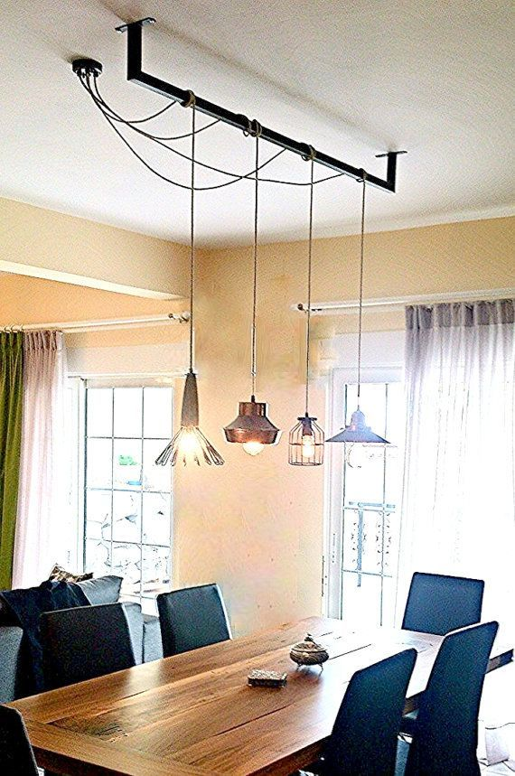 custom cables bar pendant light dining industrial bulbs lamps minimal room lighting a