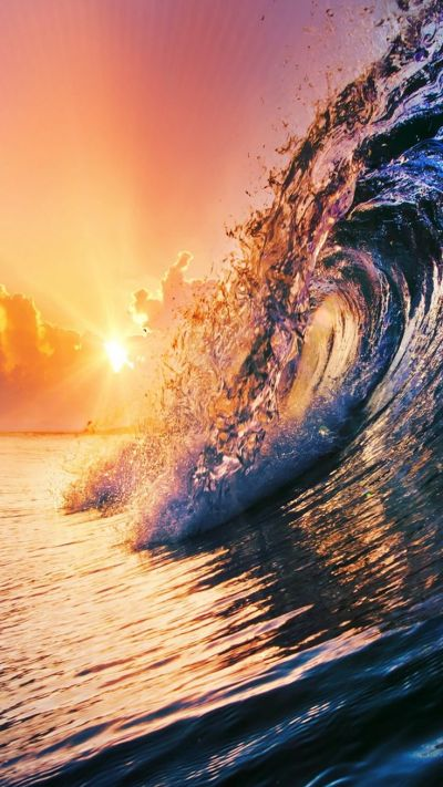 TAP AND GET THE FREE APP! Nature Minimalistic Sunrise Sea Wave Ocean Summer Sunset Relax Cool ...