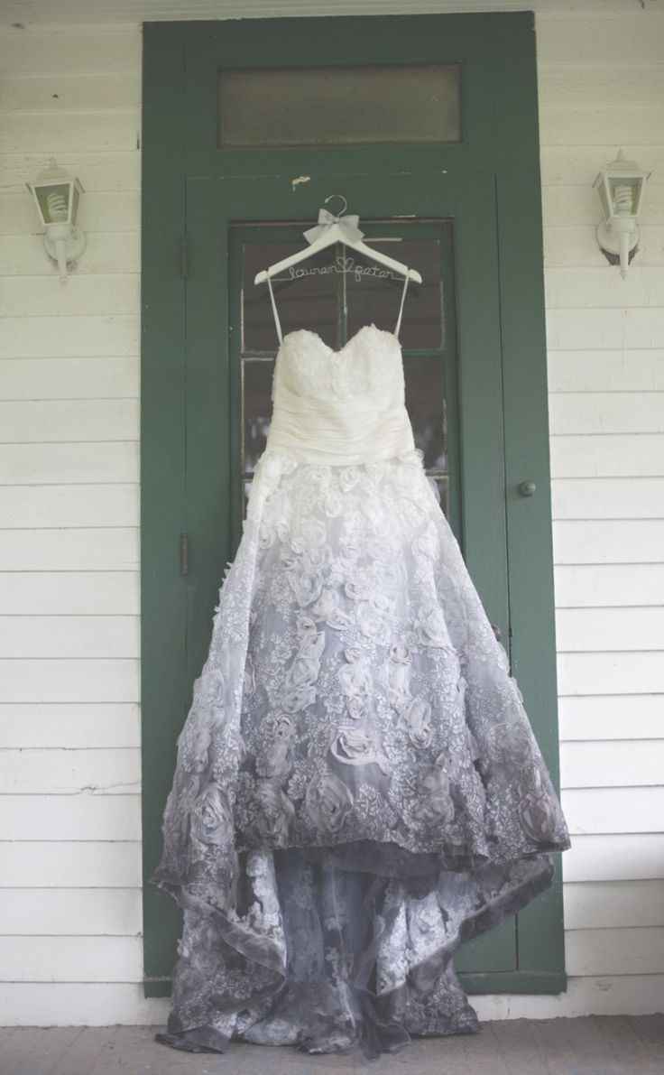 dipped wedding dress gray dresses for wedding gray ombre wedding dress photo moondance photography via emmalinebride com