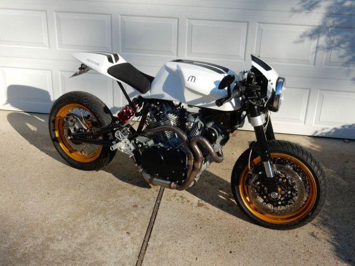 2017 Custom Motorcycle Modern Cafe Racer Yamaha Engine All Carbon Fiber