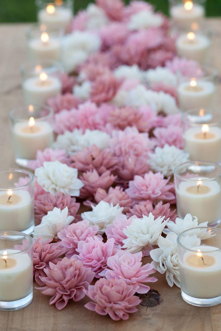 home wedding decorations wedding decoration 10 Blush Wooden Flowers Wedding Decorations Wedding Flowers Rustic Wedding Decor