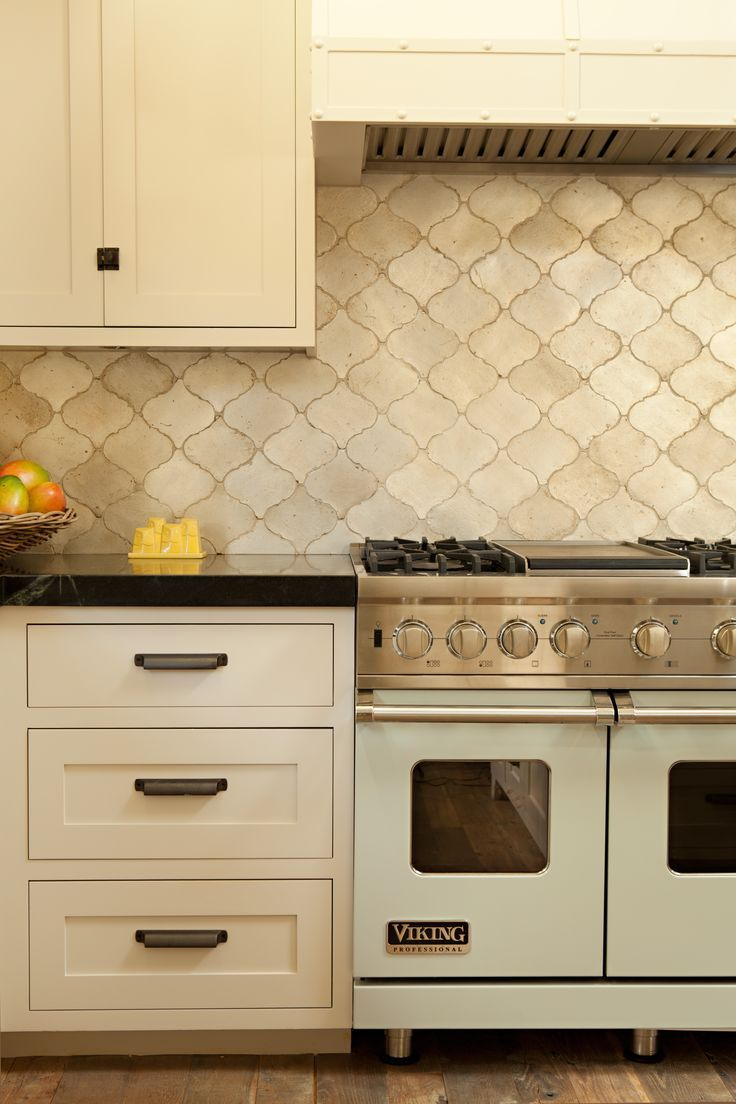 kitchen beach kitchen cabinets Walker Zanger Contessa Silver Leaf Arabesque ceramic tile in Newport Beach Kitchen designed by Karen R