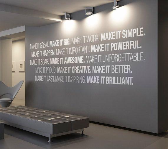 art mural de bureau fournitures decor office typographie sticker autocollant signe skumib pictures for decoration n