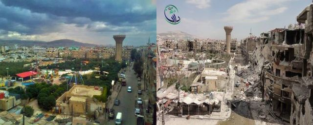 Damascus before and after