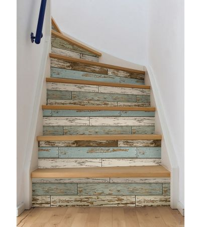 25+ best ideas about Wallpaper Stairs on Pinterest | Tile on stairs, Shabby chic wallpaper and ...