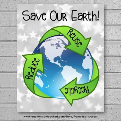 Earth Day Poster, Earth Day Classroom Door, Reduce Reuse Recycle | Science classroom and Reduce ...