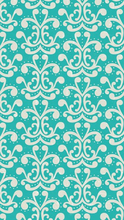 iphone 5 wallpaper - #aqua #damask #pattern | mobile ...