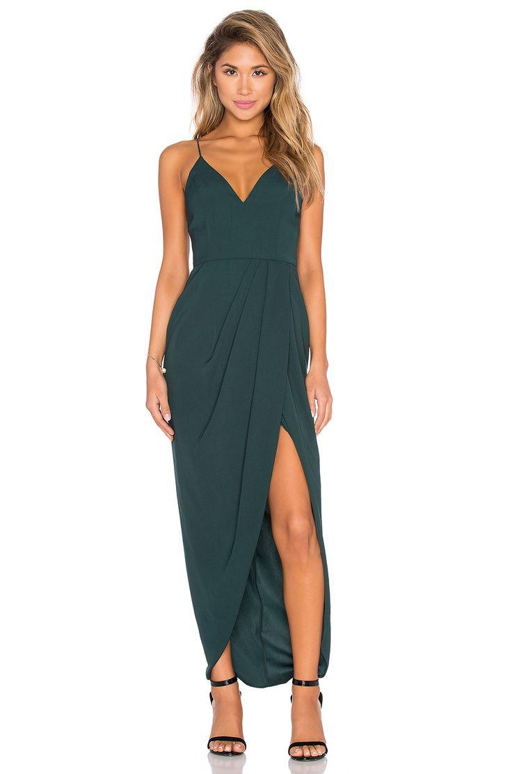summer wedding guest dresses summer dresses for weddings Shona Joy Stellar Drape Maxi Dress in Seaweed