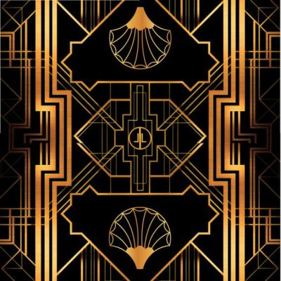 Great Gatsby Art Deco Backdrop for Photos - Wall Decor - Party Decoration - 1920's, 20's Style ...