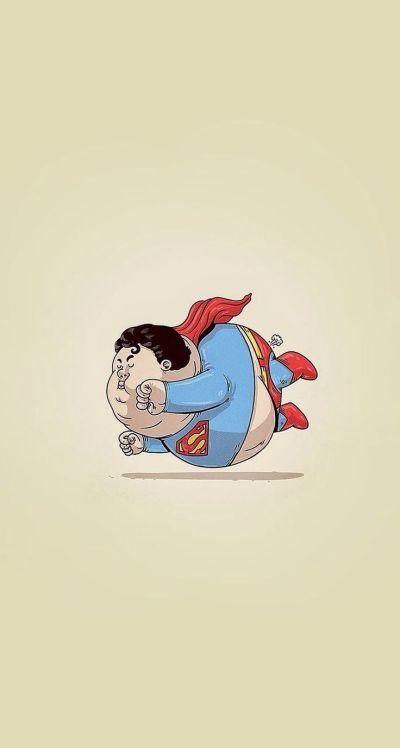 Fat Superman #superheroes iPhone wallpaper - @mobile9 ...