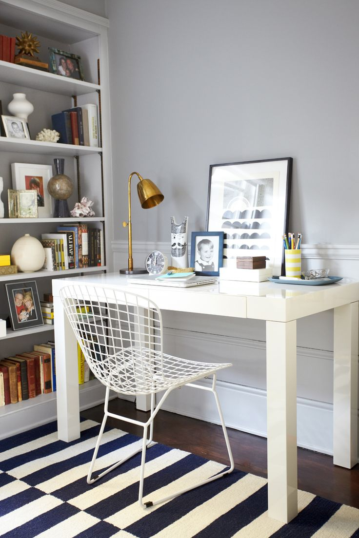 stencil same color base coat is matte and the a high gloss office makeover by emily henderson u2014 starring west elm parsons desk home m