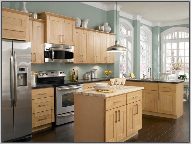 Maple Cabinets Kitchen Paint Colors With Honey Throughout Decorating Ideas