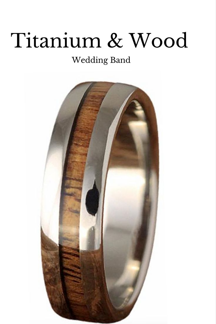 wood wedding rings wedding rings under Beautiful mens wood wedding band This wedding band is made out of titanium and