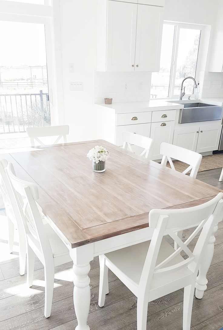 whitewash whitewash kitchen table whitelanedecor whitelanedecor Dining room table liming wax table top stainless steel farm