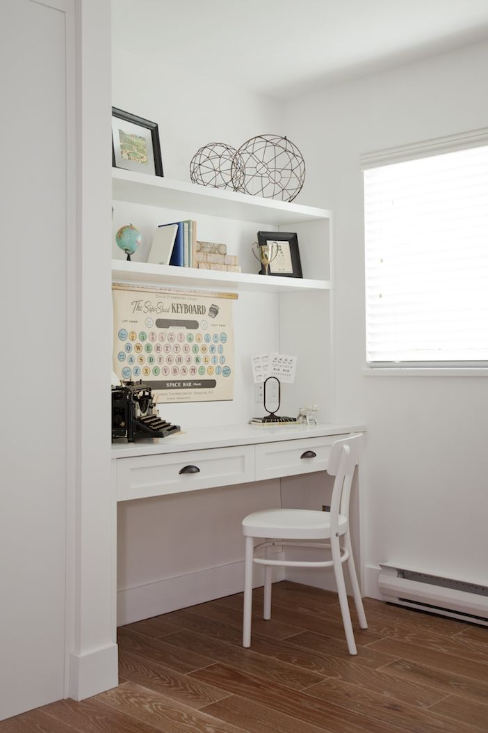 great idea for a small home office builtin desk laptop built s