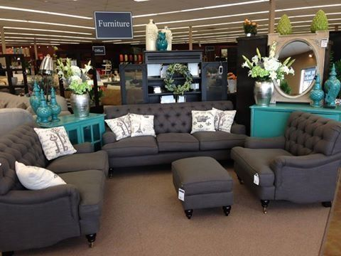 love the dark gray and teal by thelma black furniture decor