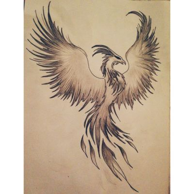 My Phoenix drawing!! #draw #drawing #phoenix #fire #design ...
