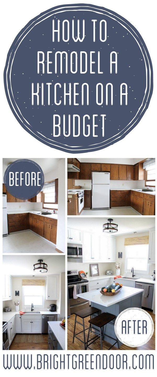 idees cuina cheap kitchen remodel Kitchen Remodel on a Budget Affordable Kitchen Renovation Modern Tuxedo Kitchen Two Tone