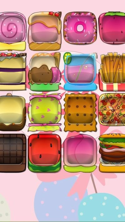 iPhone 5 wallpaper food boxes burger fries watermelon icecream margarita chocolate candy drink ...