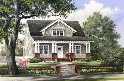 Oh, yes ... love craftsman style! | Cozy Floor Plans | Pinterest | Cottages, Dormer windows and ...