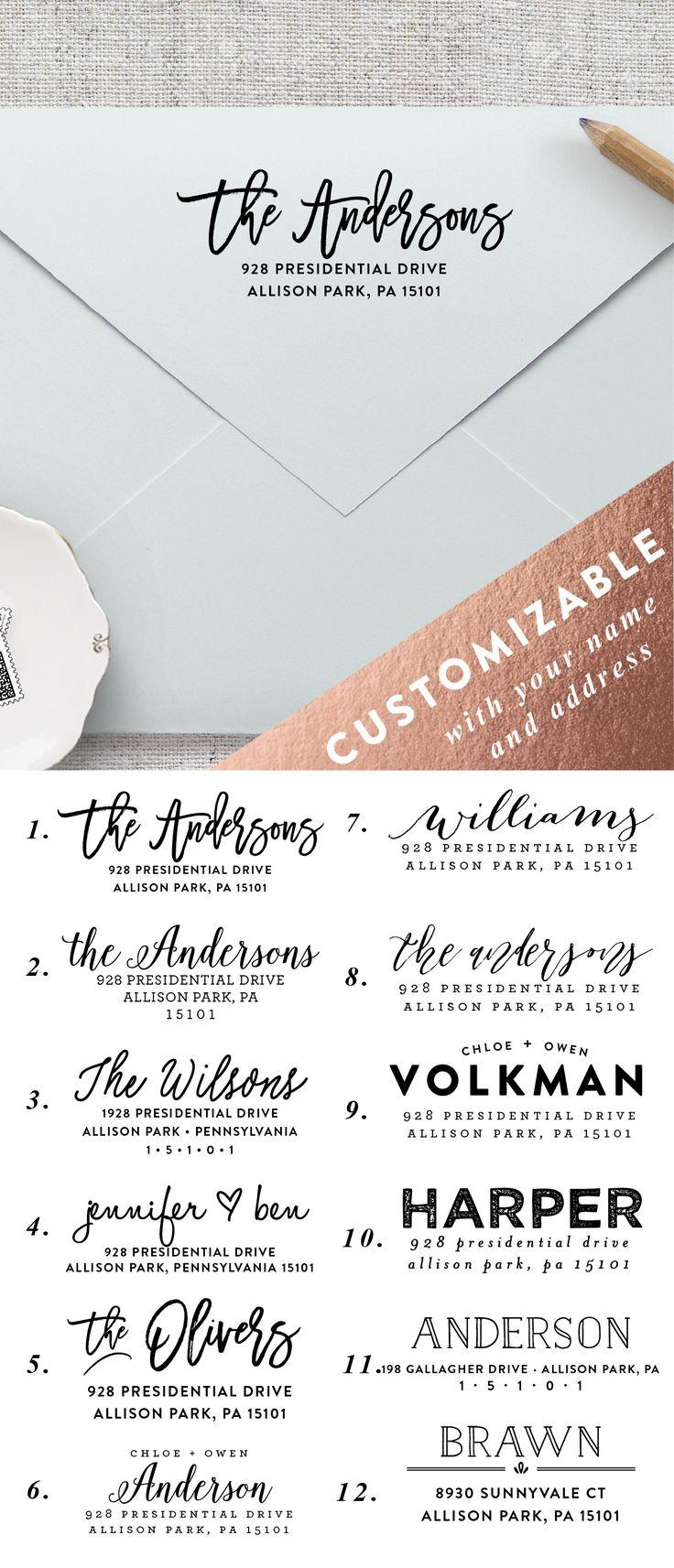 return address labels wedding address labels Make addressing all of your envelopes easier by using a self inking personalized wedding return address