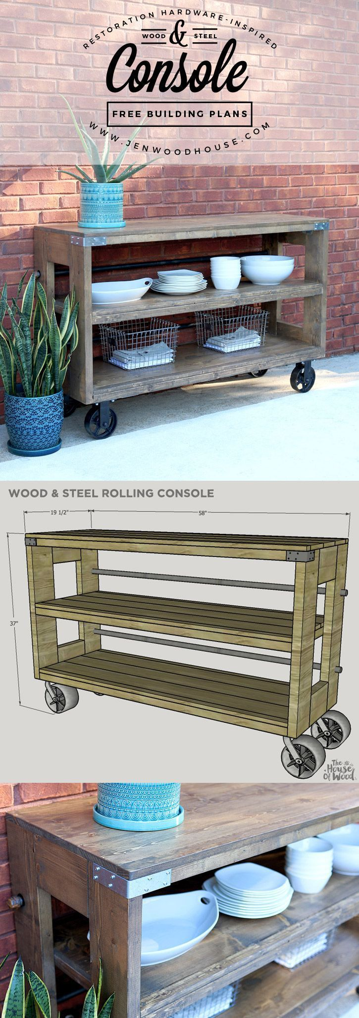 wooden console table kitchen console table 25 best ideas about Wooden Console Table on Pinterest Wooden spools Diy cable spool table and Lineman