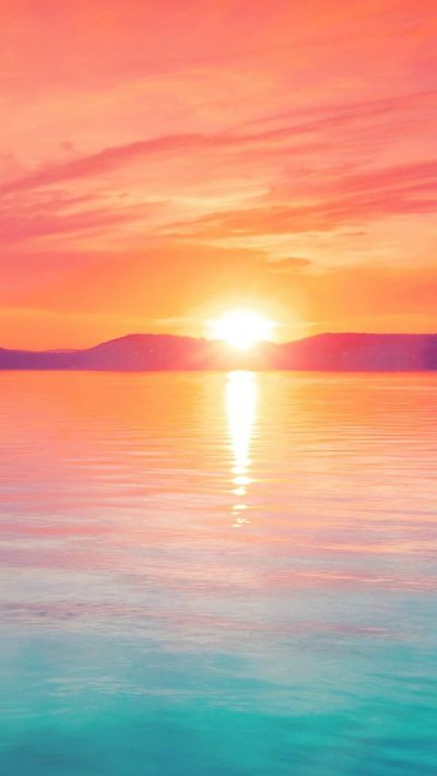 Sunset Night Lake Water Sky Red Flare #iPhone #5s #wallpaper | iPhone 5(s) Wallpapers ...