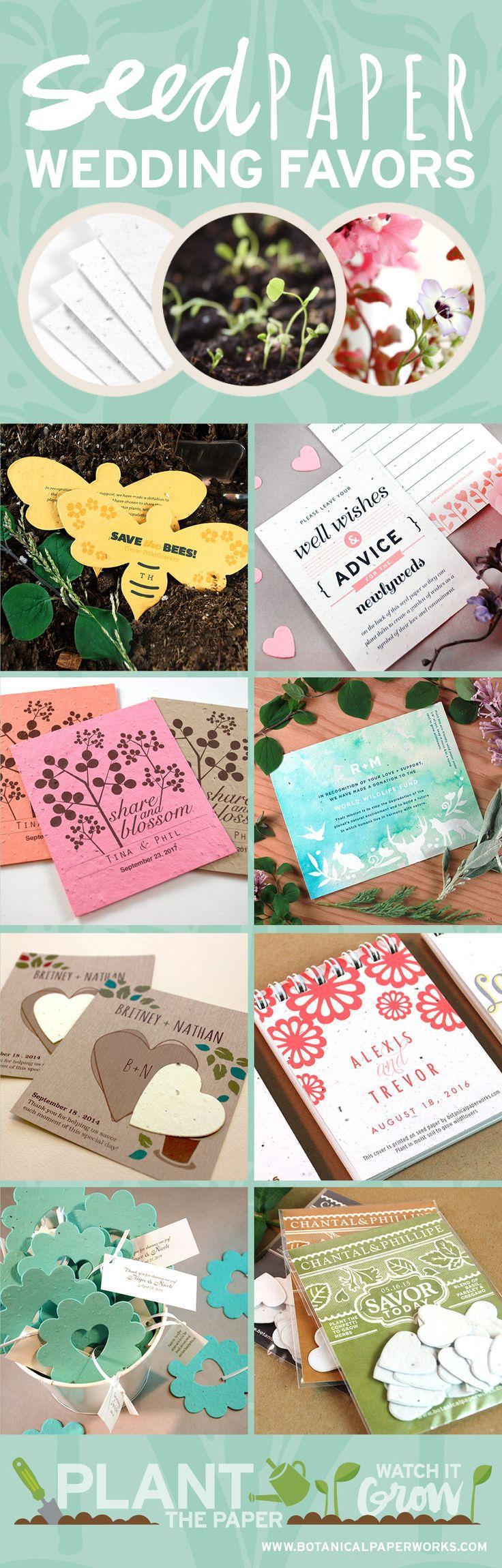 grape wedding invitations plantable wedding invitations See dozen of stylish ecofriendly plantable wedding favor ideas from Botanical PaperWorks Made