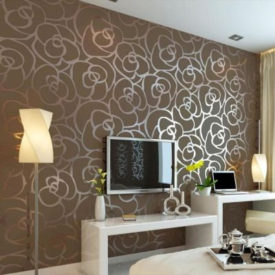 Get Your Wallpaper Through The Magazines for Home Interior Design : Modern Brown Flower ...